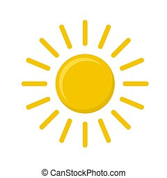 vecteur, illustration, icône, soleil, stockage, blanc