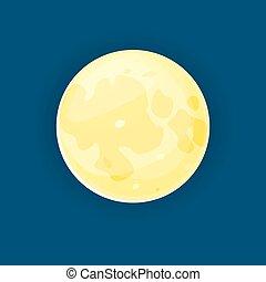 vecteur, illustration, lune