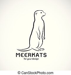 vecteur, illustration., ou, editable, animals., meerkats, ...