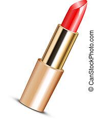 vecteur, illustration, rouge lèvres rouge