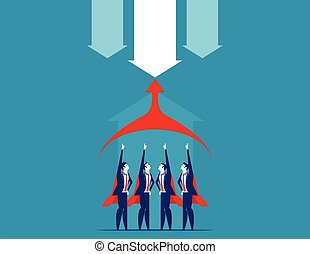 vecteur, illustration., team., superbusiness, concept, business