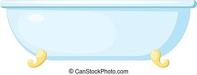 vecteur, image, dessin animé, isolé, blanc, bleu, bain, bath...