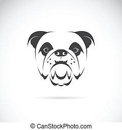 vecteur, image, figure, (bulldog), chien
