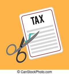 vecteur, impôt, conception, illustration.