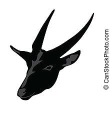 vecteur, impala, silhouette