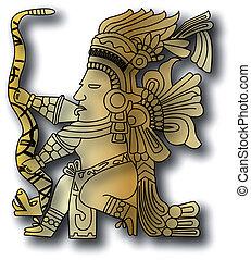 vecteur, inca, tribal, maya
