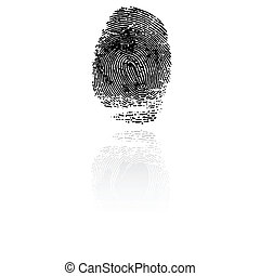 vecteur, indice, finger., imprimer