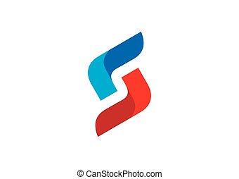 vecteur, infinité, business, construction, relier, logo