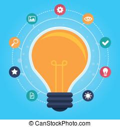 vecteur, infographic, idée, créatif