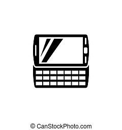 vecteur, informatique, pda, poche, icône