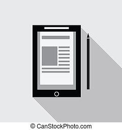 vecteur, informatique, tablette