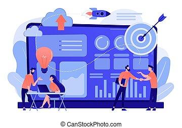 vecteur, initiative, illustration., données, concept