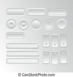 vecteur, interface, ensemble, utilisateur, éléments