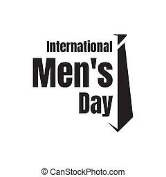 vecteur, international, lettrage, hommes, graphisme, jour