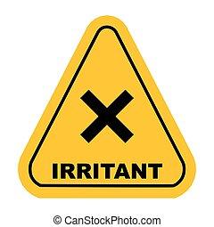 vecteur, irritant, signe
