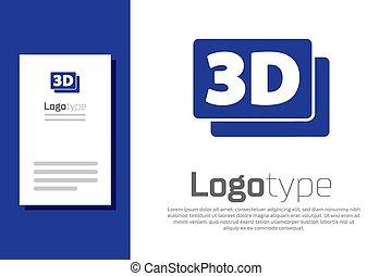 vecteur, isolé, bleu, conception, mot, element., 3d, blanc, arrière-plan., logo, icône, gabarit