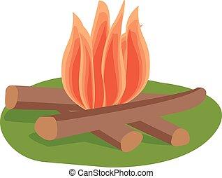 vecteur, isolé, feu, illustration.