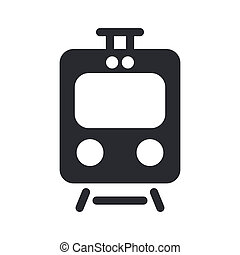 vecteur, isolé, illustration, unique, train, icône