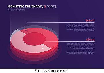 vecteur, isométrique, graphique circulaire, conception, moderne, gabarit, pour, créer
