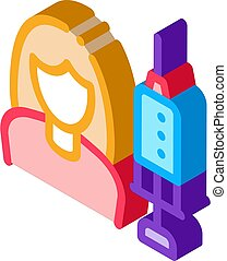 vecteur, isométrique, injections, icône, illustration, ...