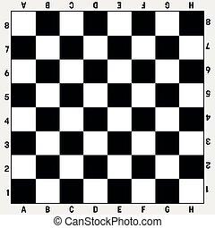 vecteur, jeu société, gameboard, échecs, white., illustration, chess., sport, ou, loisir, noir