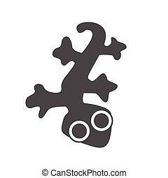 vecteur, lézard, , gecko, logo, conception, graphique