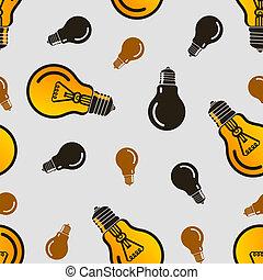vecteur, lampe, pattern., eps10, seamless