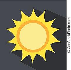 vecteur, levers de soleil, soleil, illustration