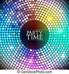 vecteur, lights., coloré, disco