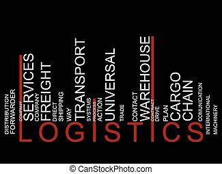 vecteur, logistique, barcode, coloré, texte