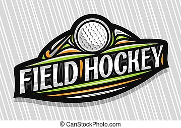 vecteur, logo, hockey, champ