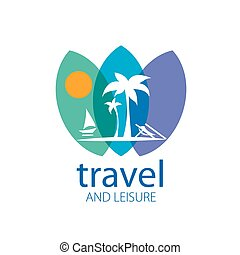 vecteur, logo, voyage