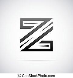 vecteur, logo, z, lettre