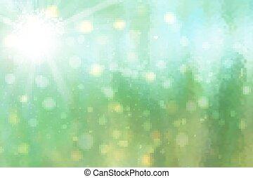 vecteur, lumières, scintillement, résumé, bokeh, réflecteur, arrière-plan., rétroéclairage
