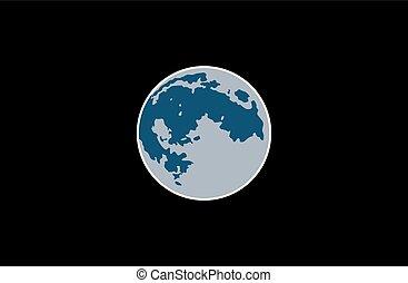 vecteur, lune