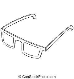 vecteur, lunettes, ensemble