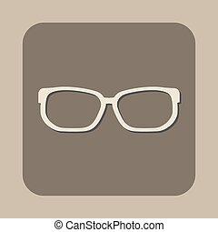 vecteur, lunettes, icône