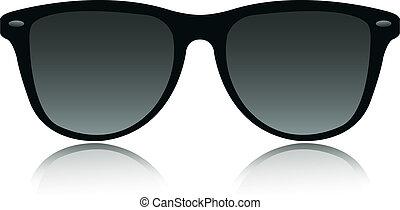 vecteur, lunettes soleil