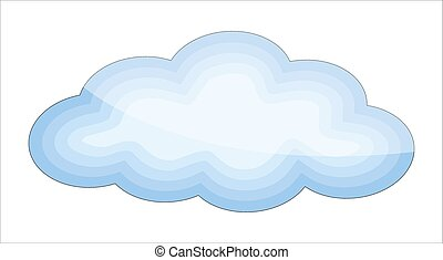vecteur, lustré, nuage