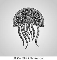 vecteur, méduse
