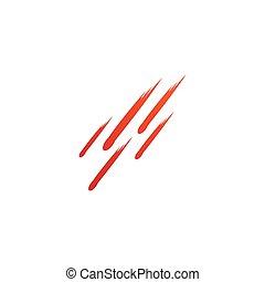 vecteur, météore, logo