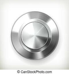 vecteur, métal, bouton