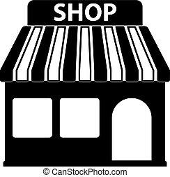 vecteur, magasin, icône