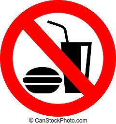 vecteur, manger, non, signe