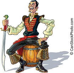 vecteur, marin, arabe, dessin animé