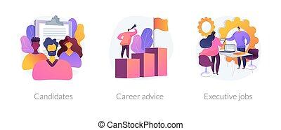 vecteur, metaphors., concept, carrières