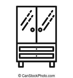 vecteur, meubles bureau