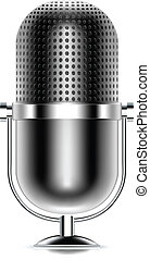 vecteur, microphone, icône