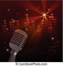 vecteur, microphone., illustration.