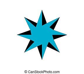 vecteur, mignon, icon.eps, étoile, abstrack
